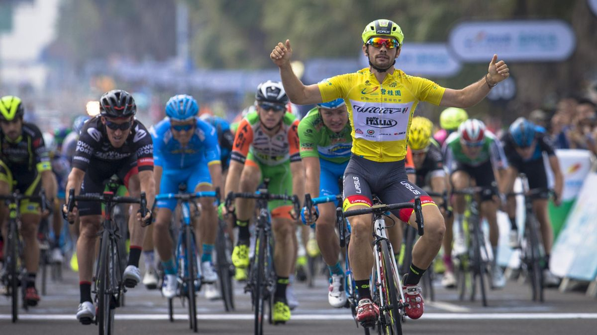 Mareczko wins his third race in a row (credit: Tour of Hainan)