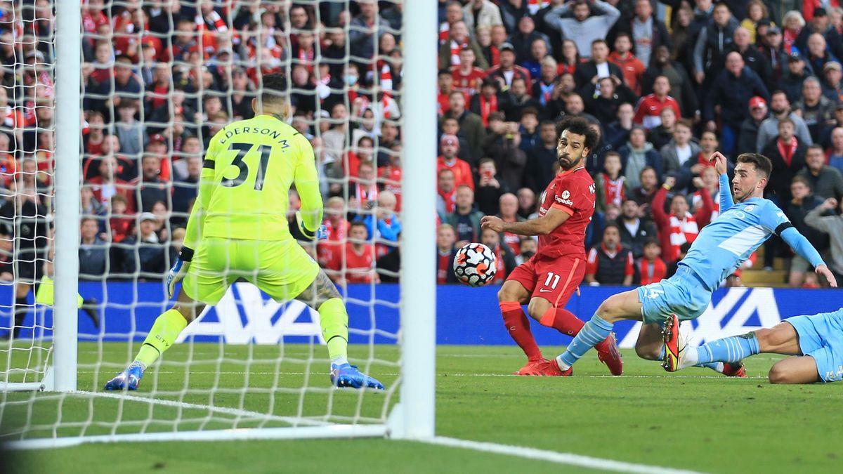 Mohamed Salah a marcat minunat pentru Liverpool în meciul cu Manchester City