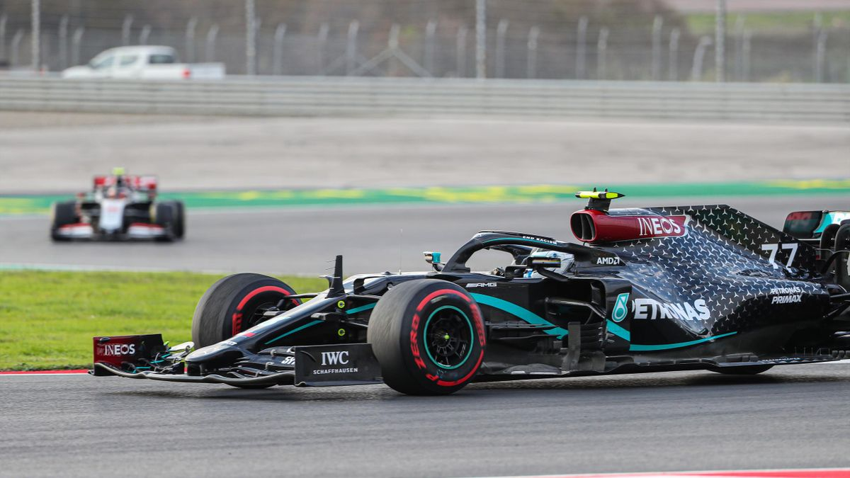 Lewis Hamilton (44) of Mercedes drives during the practice session at the Intercity Istanbul Park circuit in Istanbul, Turkey on November 13, 2020 ahead of the Formula 1 DHL Turkish Grand Prix 2020