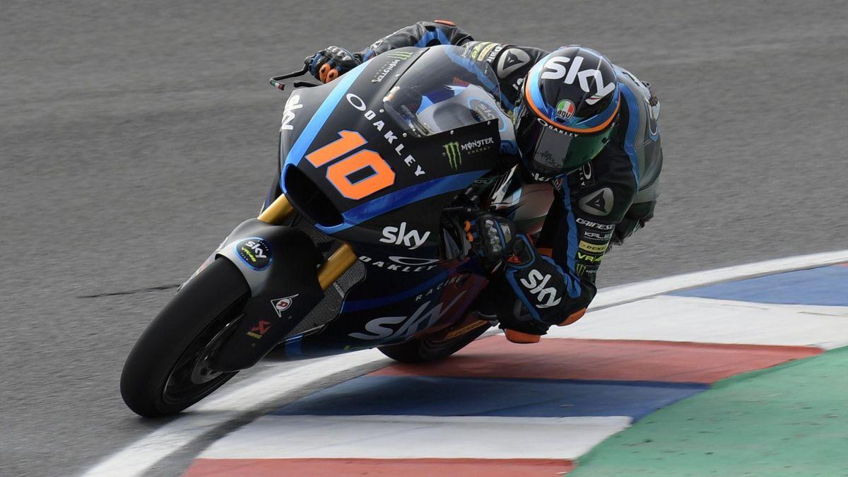 Luca Marini impegnato nel GP d'Argentina - 2019