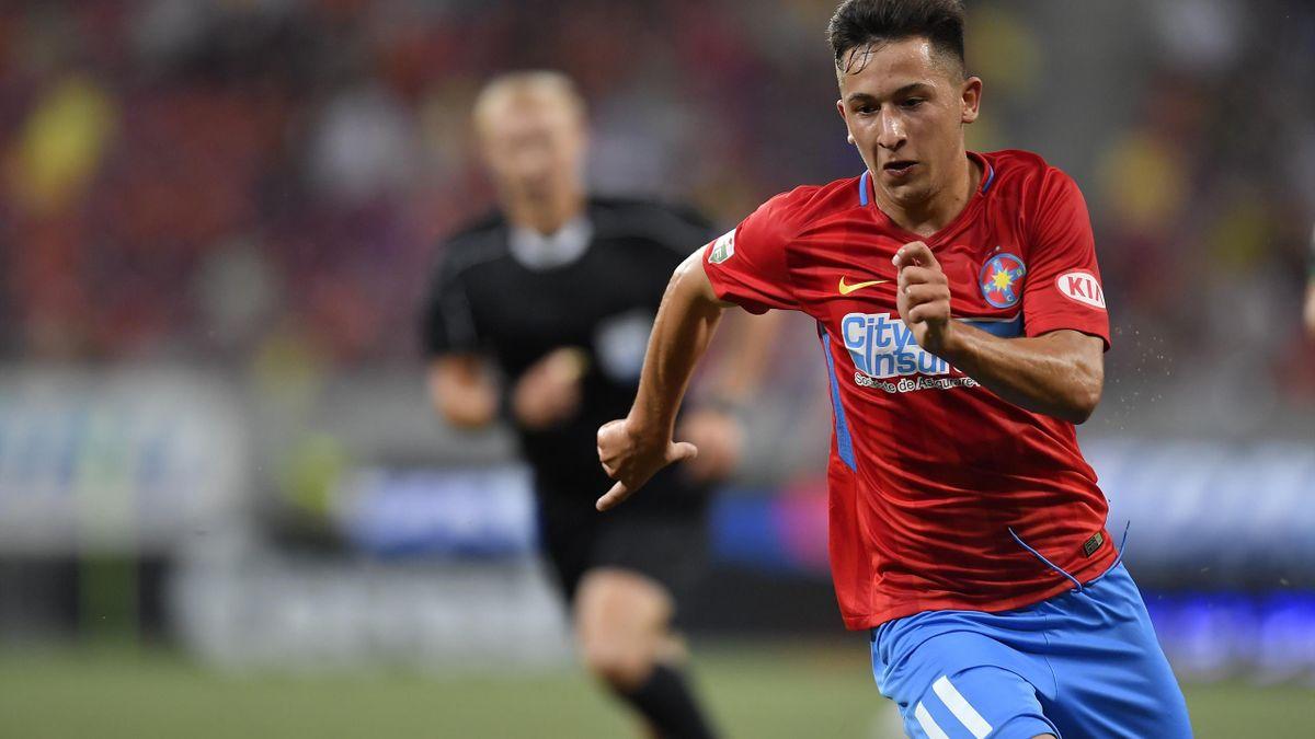 Olimpiu Moruțan, în tricoul lui FCSB