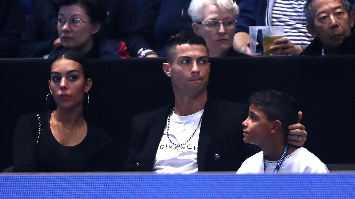 Cristiano Ronaldo con suo figlio Cristiano Ronaldo Jr.
