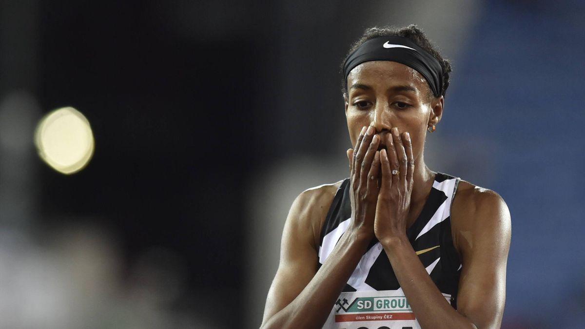 Athlete Sifan Hassan from Ethiopia (represents Netherlands) is seen during the Golden Spike Ostrava athletics IAAF World Challenge event, on September 8, 2020, in Ostrava, Czech Republic. (CTKxPhoto/JaroslavxOzana) CTKPhotoP202009080900501 _JAO2194