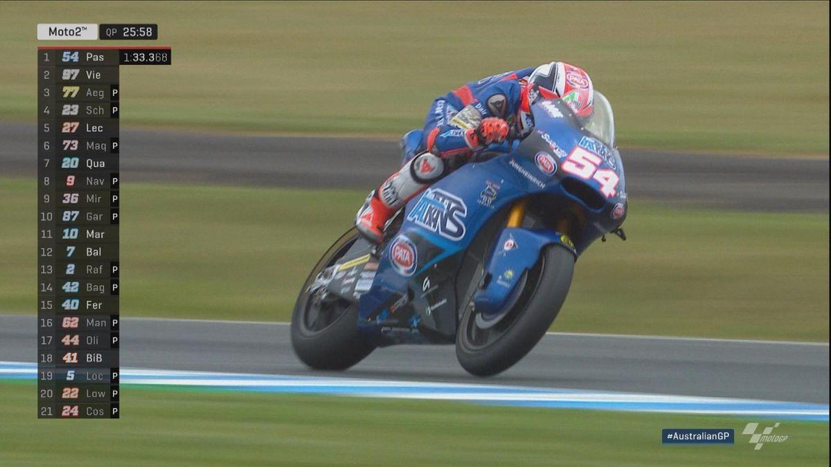 Australian Grand Prix: Moto 2 QP - Pole position Pasini