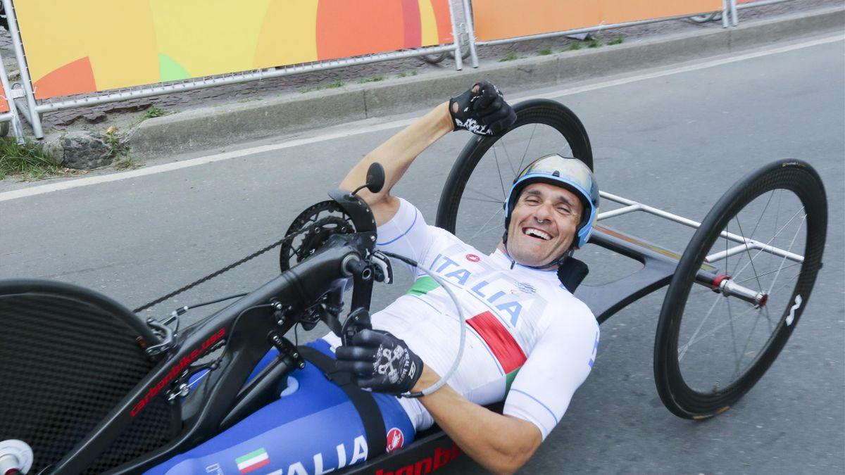 Luca Mazzone, una delle punte di diamante dell'Italia nella categoria handbike