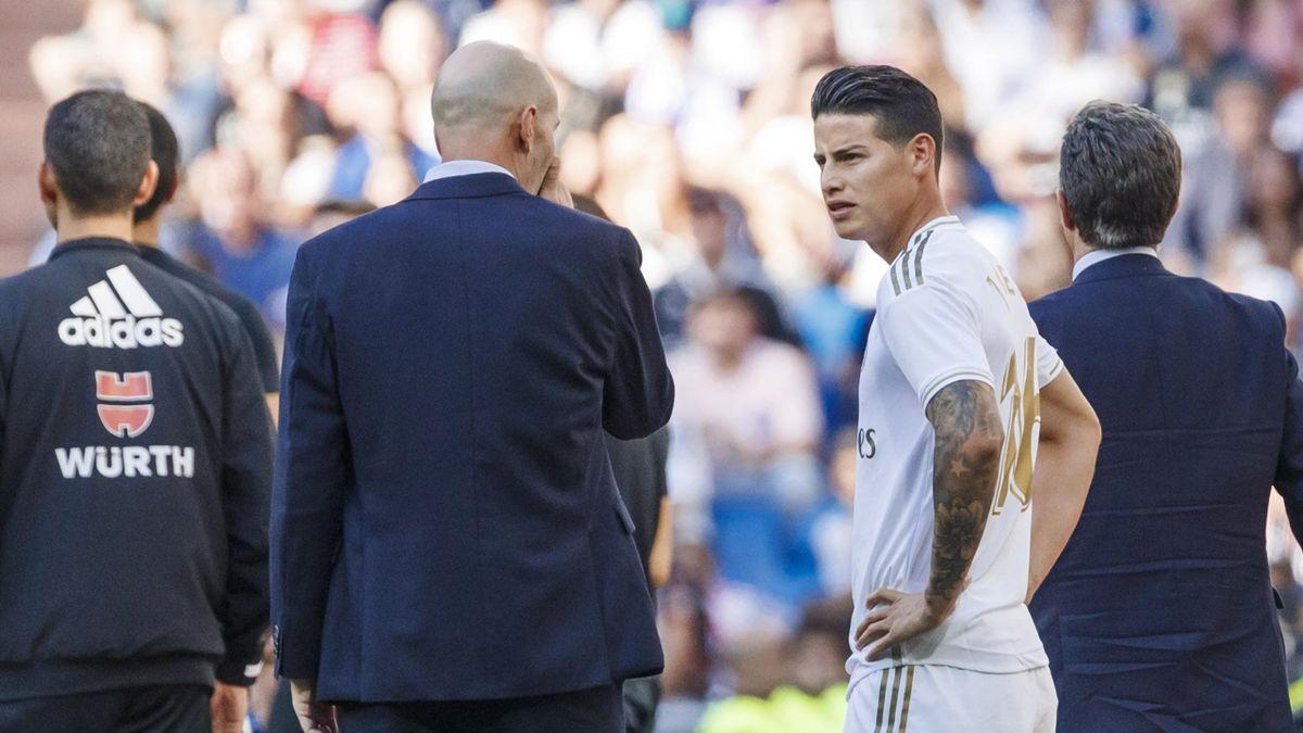James Rodriguez nu a reușit să îl convingă pe Zinedine Zidane