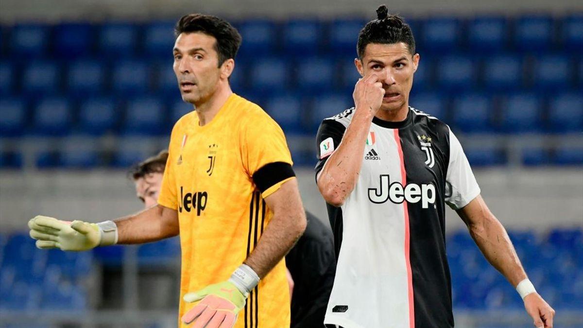 Buffon, Cristiano Ronaldo - Napoli-Juventus - Coppa Italia 2019/2020 - Getty Images