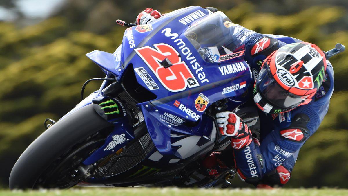 Maverick Viñales (Yamaha Factory) lors du Grand Prix d'Autriche 2018