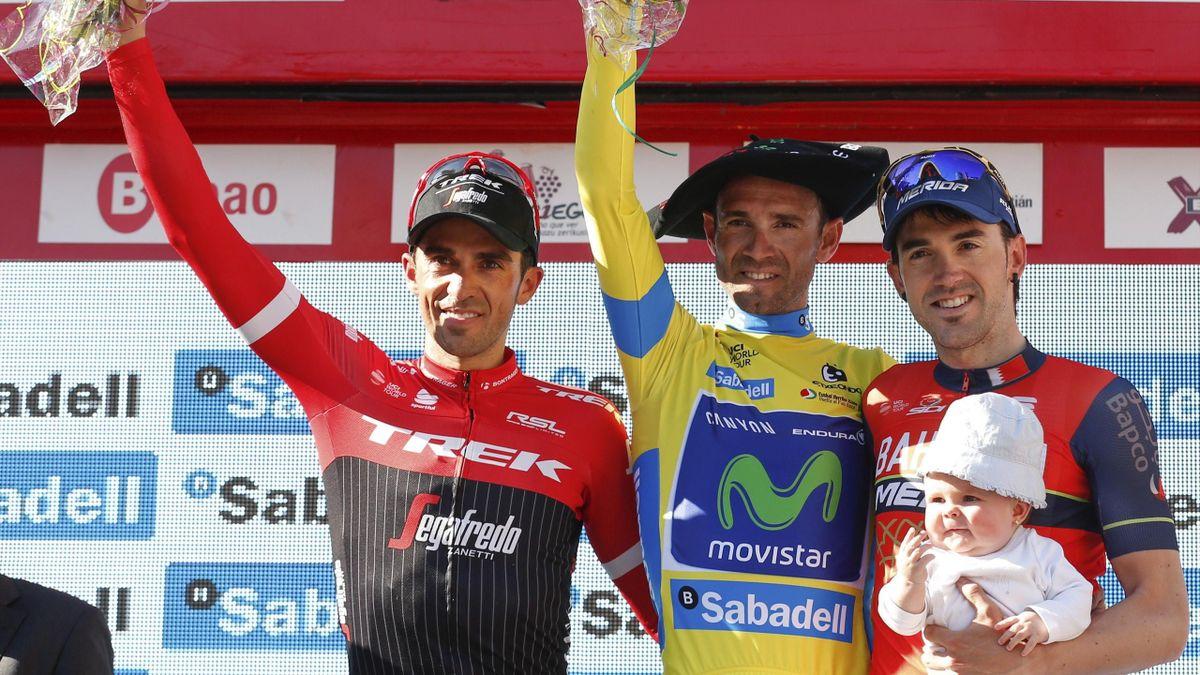 Contador, Valverde e Izaguirre, podio de la Vuelta al País Vasco 2017