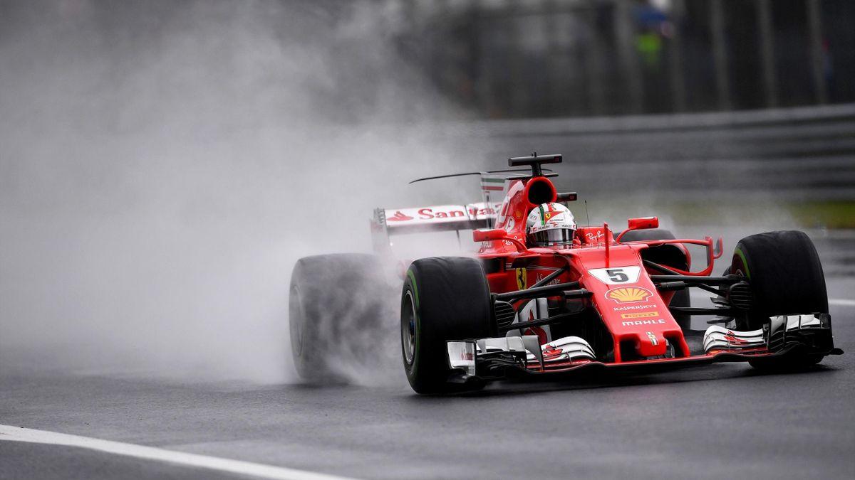 Sebastian Vettel im Qualifying von Monza