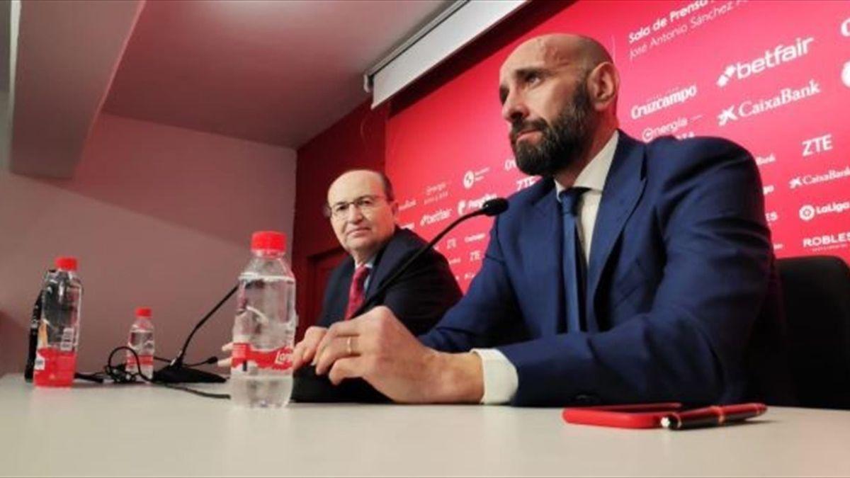 Monchi, en su presentación con el Sevilla