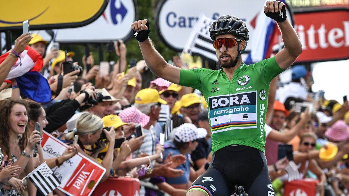 Peter Sagan celebrates