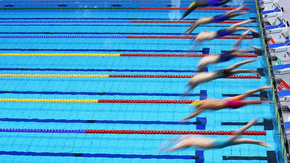 A general view during day two of the FINA Swimming World Cup Berlin at Schwimm- und Sprunghalle im Europasportpark (SSE) on October 12, 2019 in Berlin
