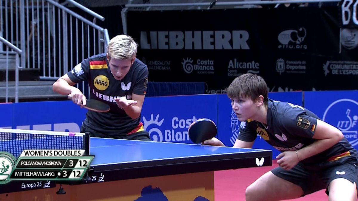 Table tennis - European Championships - Women Double Final