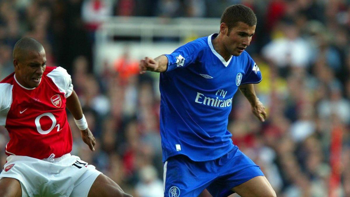 Adrian Mutu (r.) spielte 2003/04 bei Chelsea