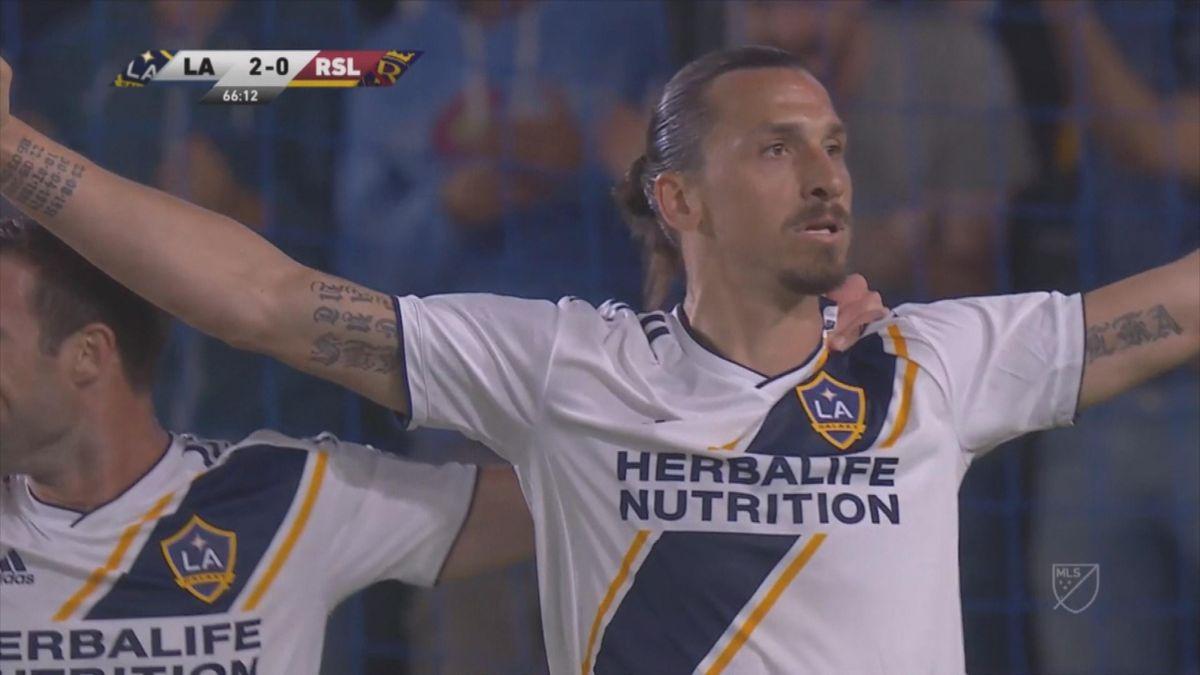 MLS : Zlatan offensive act vs Real Salt Lake
