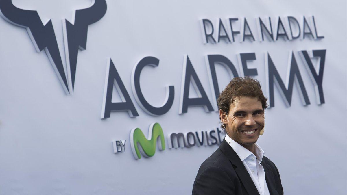Rafael Nadal dans son académie à Majorque en 2016