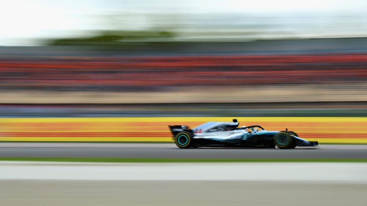 Lewis Hamilton pendant le Grand Prix d'Espagne 2018.