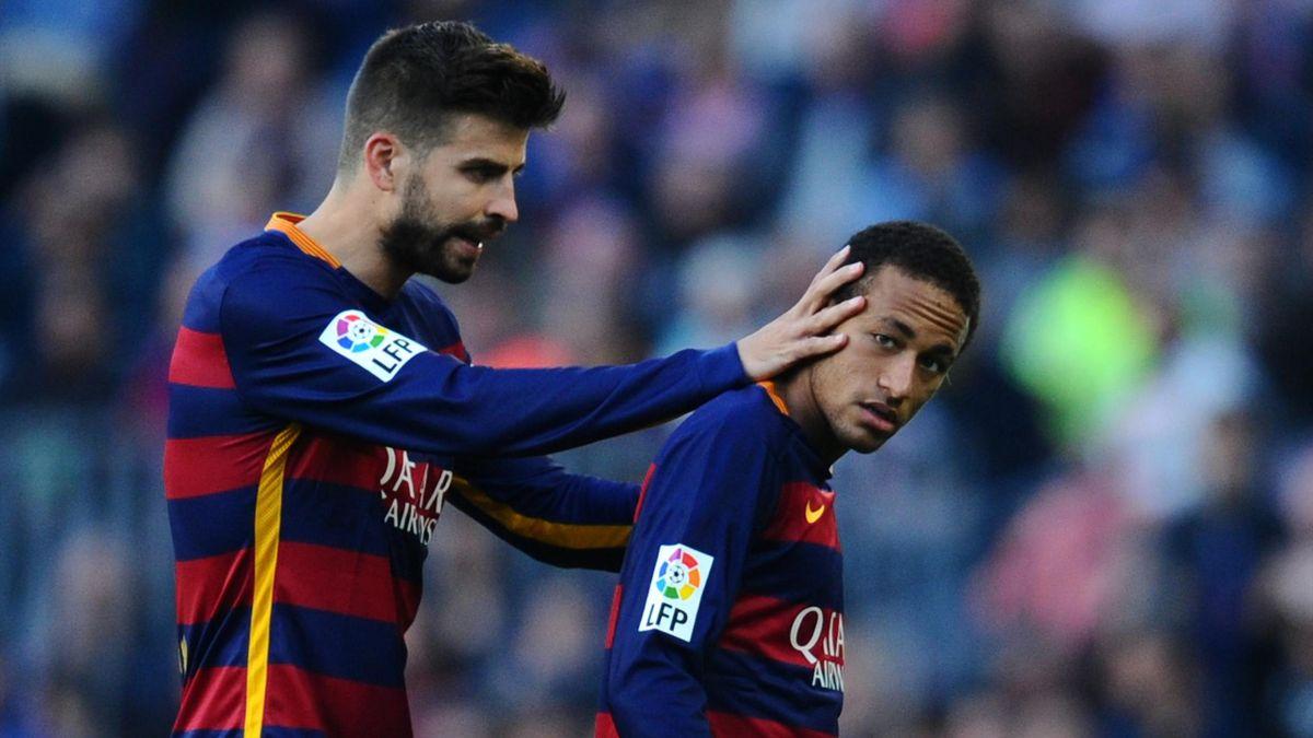 Pique et Neymar en 2015-2016