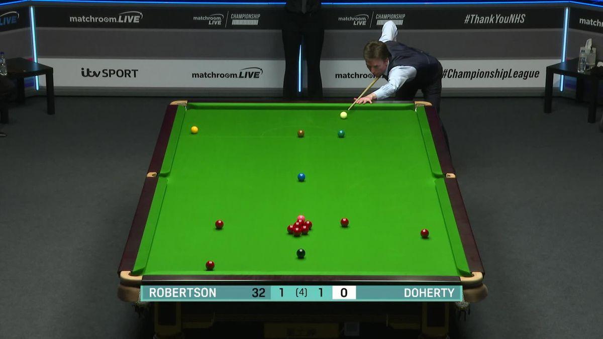 Snooker Championship League: Ken Doherty's nice shot against Neil Robertson