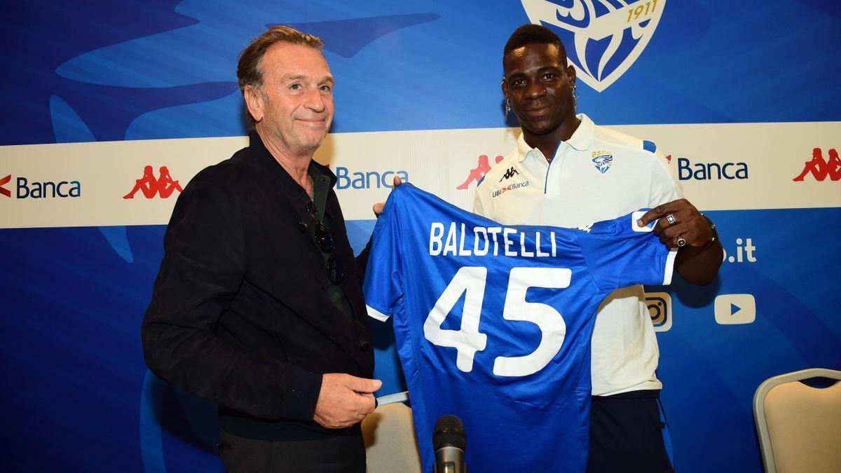 Balotelli, Cellino - Brescia 2019/2020 - Getty Images