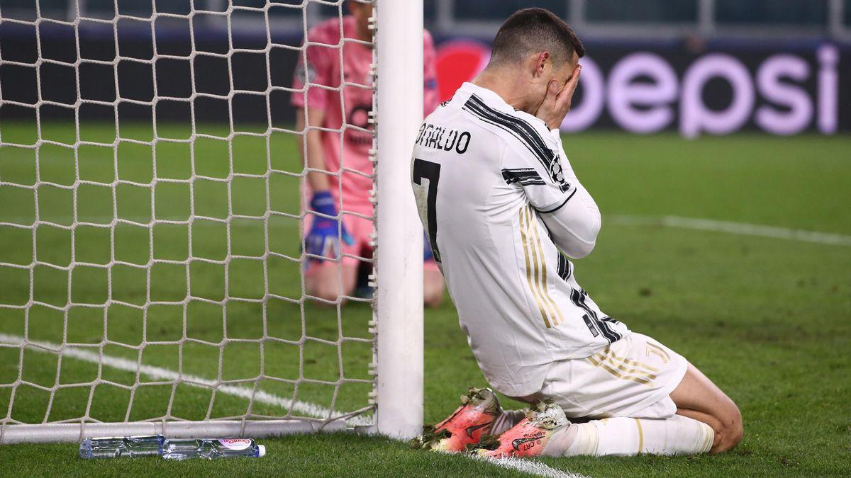 La disperazione di Cristiano Ronaldo in Juventus-Porto