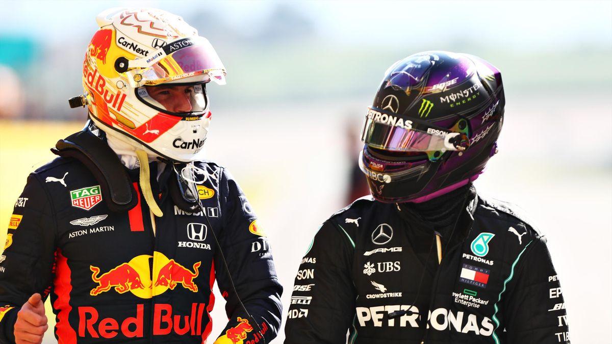 Max Verstappen (links) und Lewis Hamilton