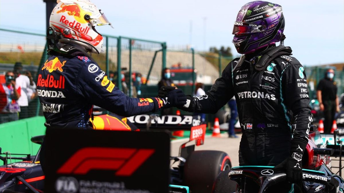 Max Verstappen (Red Bull), Lewis Hamilton (Mercedes) - GP of Portugal 2021
