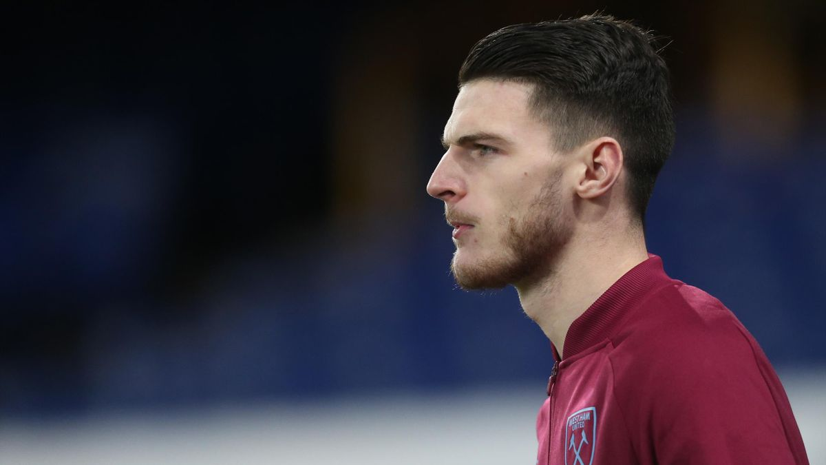 West Ham United's Declan Rice during the Premier League match between Everton and West Ham United