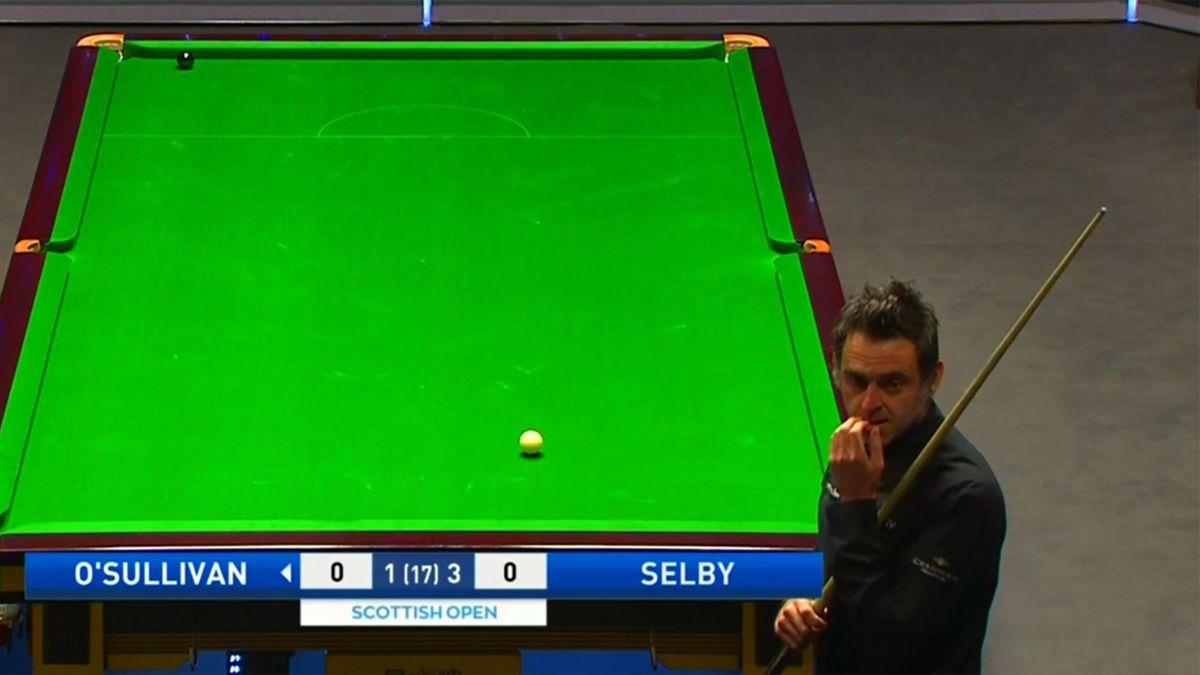 Ronnie O'Sullivan in the Scottish Open final