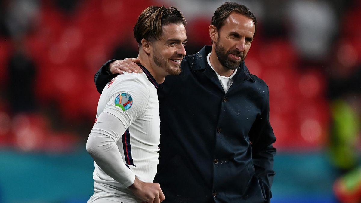 Jack Grealish and Gareth Southgate, Euro 2020