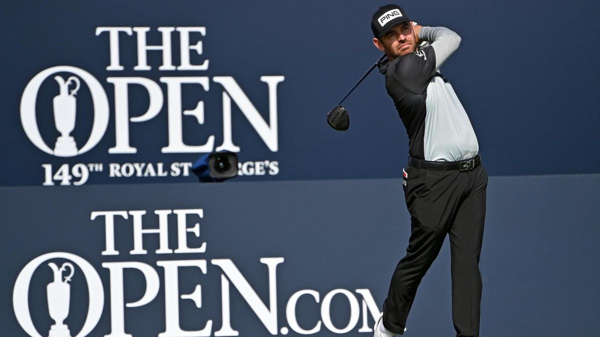 Louis Oosthuizen set the pace at Royal St Georges after the first round.