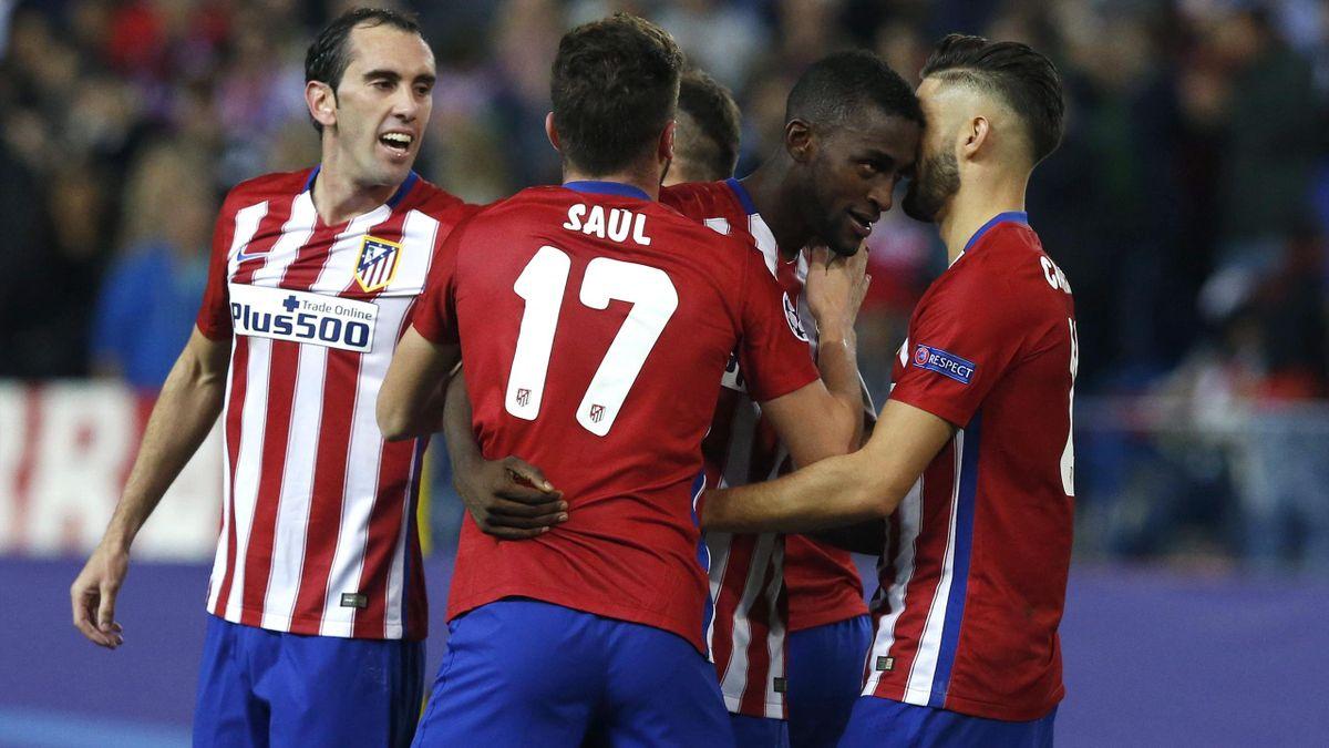 Jackson Martínez celebra un gol con el Atlético de Madrid