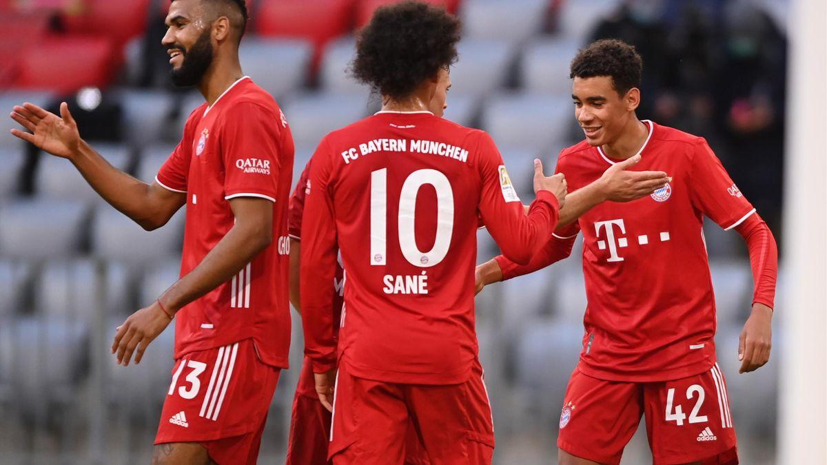 Jamal Musiala (r.) spielt seit 2019 für den FC Bayern München