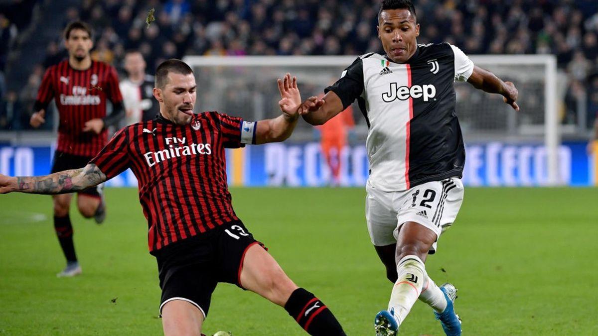 Alessio Romagnoli von AC Mailand, Alex Sandro von Juventus Turin