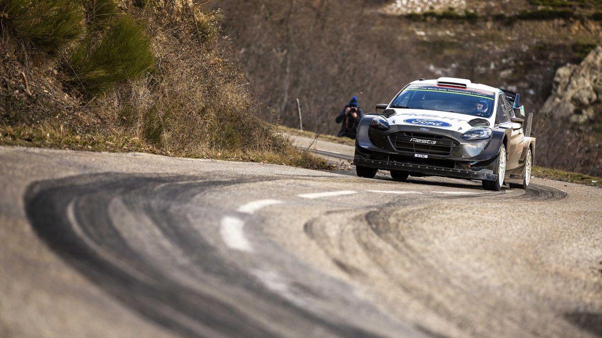 Teemu Suninen ( M-Sport Ford Fiesta) à Monte-Carlo, 2021