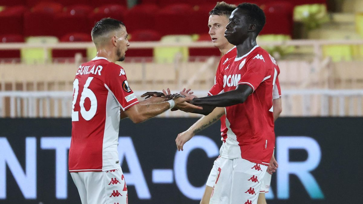 Krepin Diatta, buteur de Monaco face au Sturm Graz