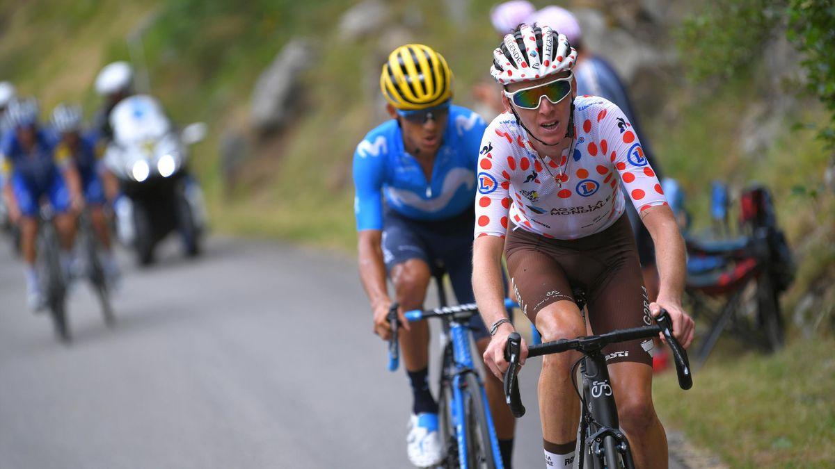 Romain Bardet lors de la 20e étape