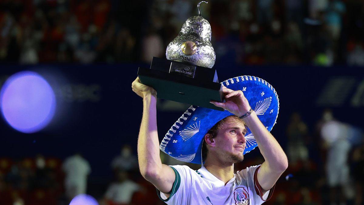 Alexander Zverev jubelt in Acapulco nach seinem Finalsieg gegen Stafanos Tsitsipas