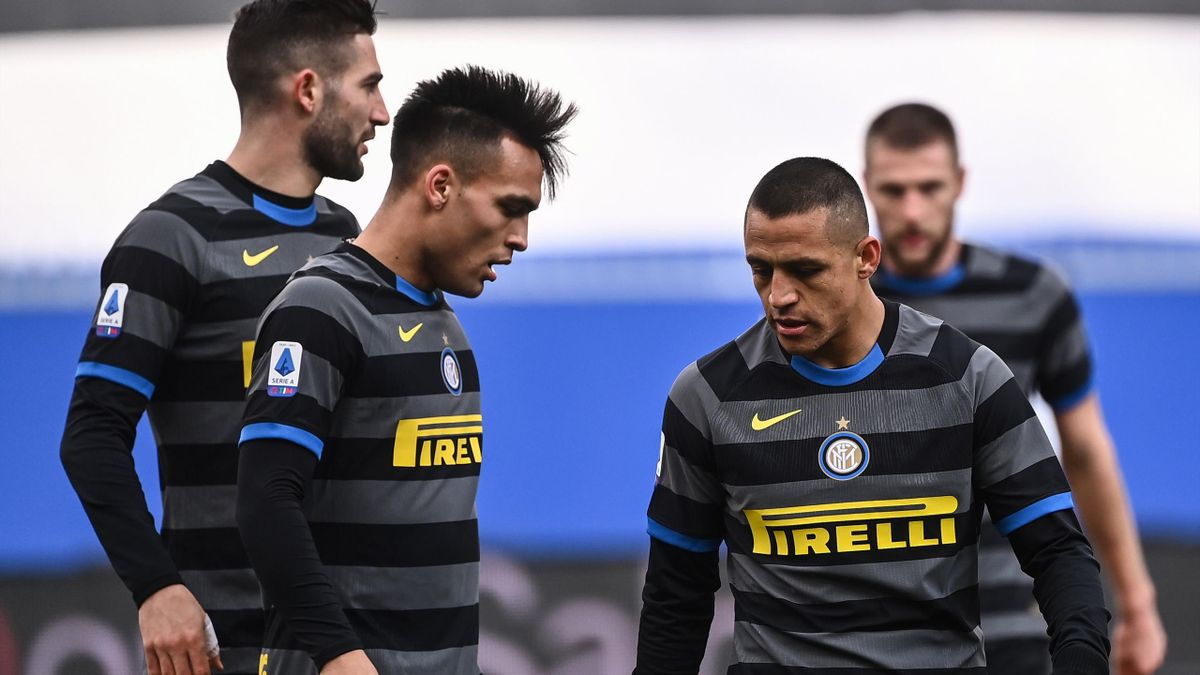 Alexis Sanchez e Lautaro Martinez, Sampdoria-Inter, Serie A 2020-21, Getty Images