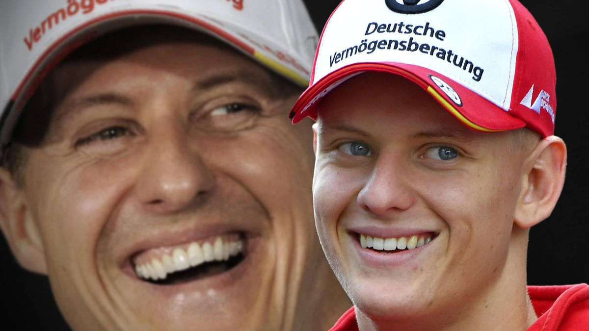 Mick Schumacher (rechts) hat das berühmte Kürzel MSC seines Vaters Michael gewählt