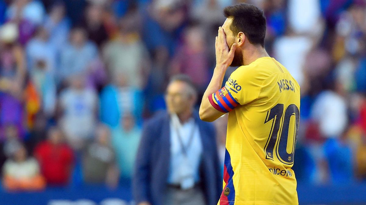 Lionel Messi verliert mit dem FC Barcelona gegen UD Levante