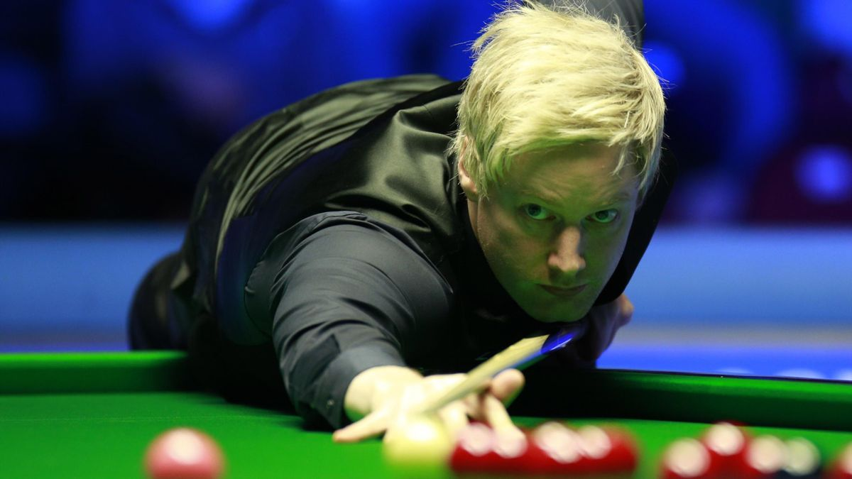 Neil Robertson in action.
