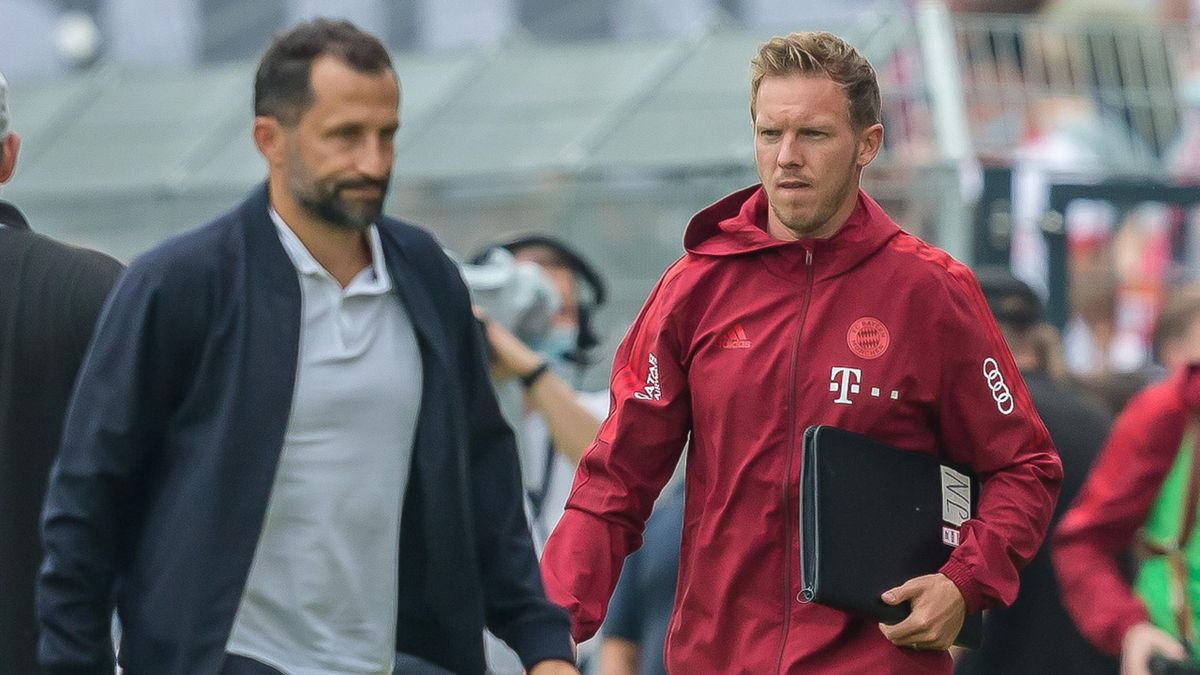 Hasan Salihamidzic (vorne) und Julian Nagelsmann - FC Bayern