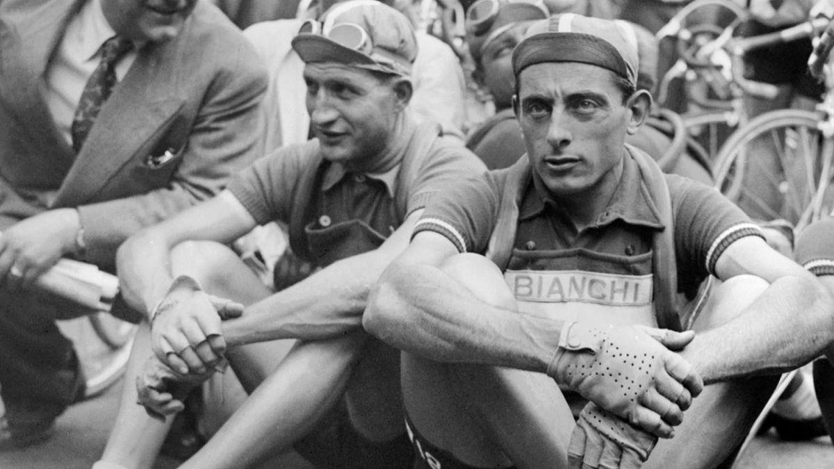 Gino Bartali et Fasuto Coppi.