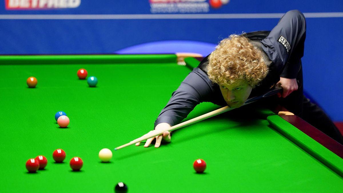 Neil Robertson bei der Snooker-WM 2021 in seinem Viertelfinale gegen Kyren Wilson