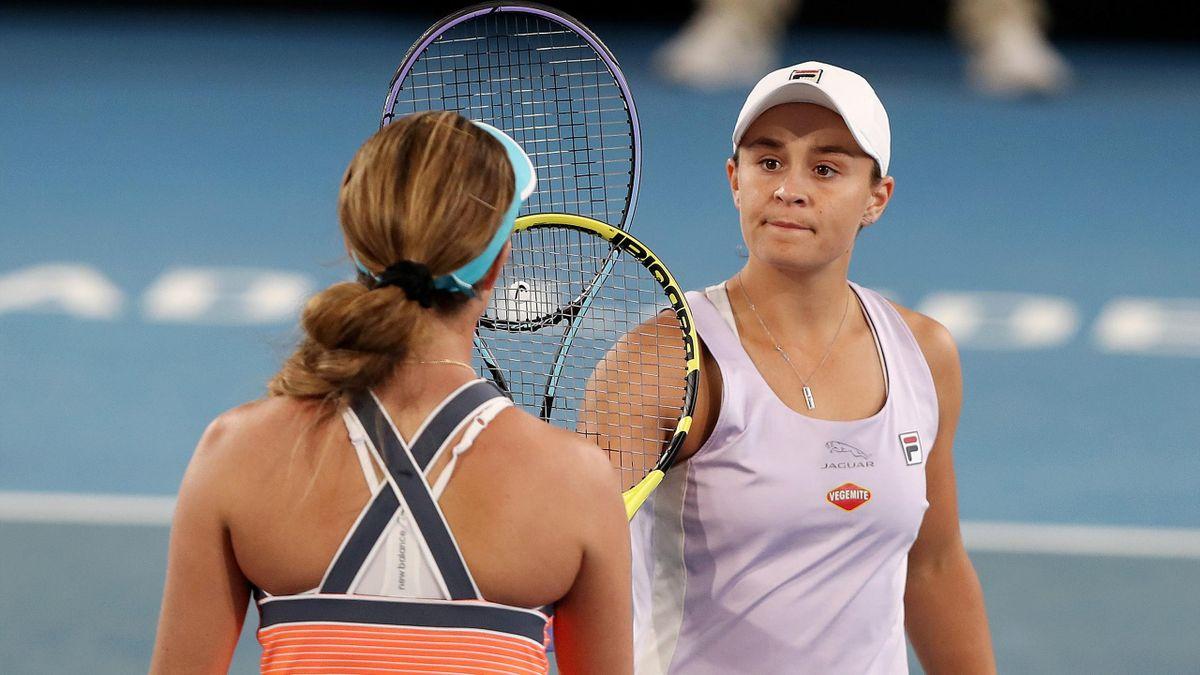 Ashleigh Barty battue dès le premier tour du tournoi d'Adelaïde par Danielle Collins.