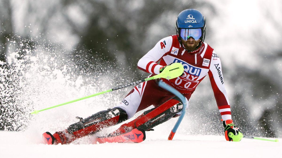 Marco Schwarz fiel in Chamonix im zweiten Durchgang noch von Position drei auf Rang sechs zurück