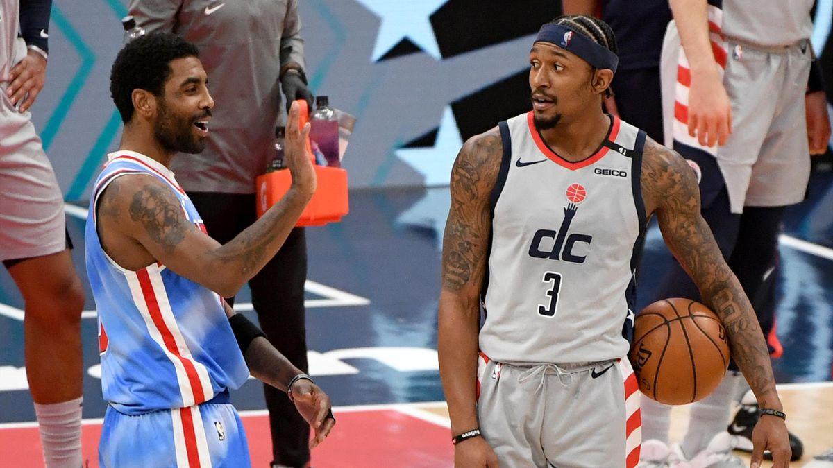 Kyrie Irving (Brooklyn Nets) et Bradley Beal (Washington Wizards), le 31 janvier 2021