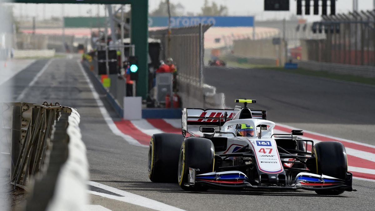 Mick Schumacher im Haas bei den Testfahrten in Bahrain